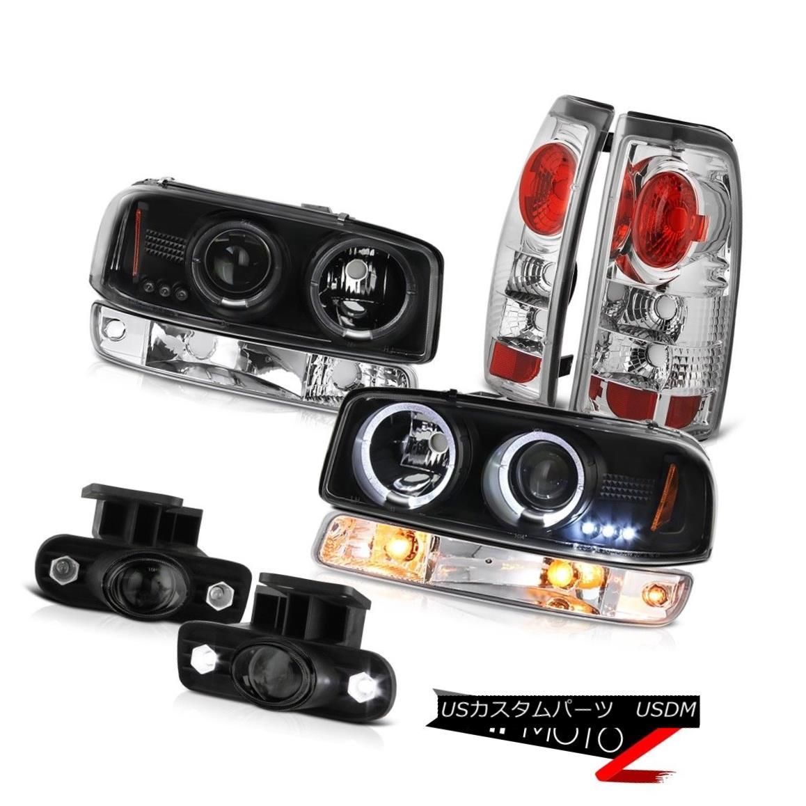 ヘッドライト 99-02 Sierra 6.0L Smokey fog lamps taillights bumper light raven black headlamps 99-02 Sierra 6.0Lスモーキーフォグランプテールライトバンパーライトレイヴンブラックヘッドライト