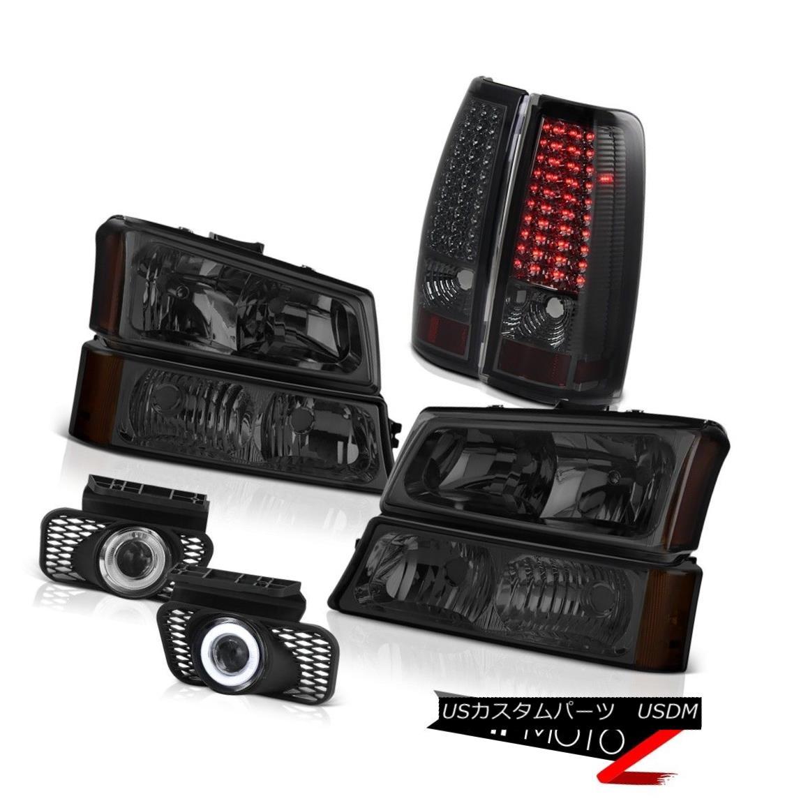 ヘッドライト Turn Signal Headlight Smoke LED Brake Taillight Projector Fog 03-06 Silverado LT ターンシグナルヘッドライト煙LEDブレーキテールライトプロジェクターフォグ03-06 Silverado LT
