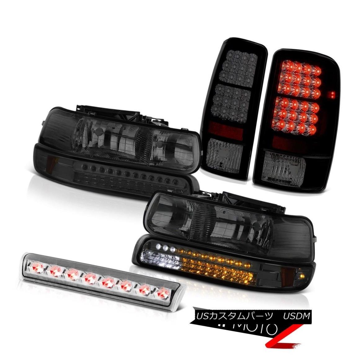 ヘッドライト 2000-2006 Suburban 5.3L LED Smoke Bumper+Headlamps TailLights Euro Third Brake 2000-2006郊外5.3L LED煙バンパー+ヘッドラム psテールライトユーロ第3ブレーキ