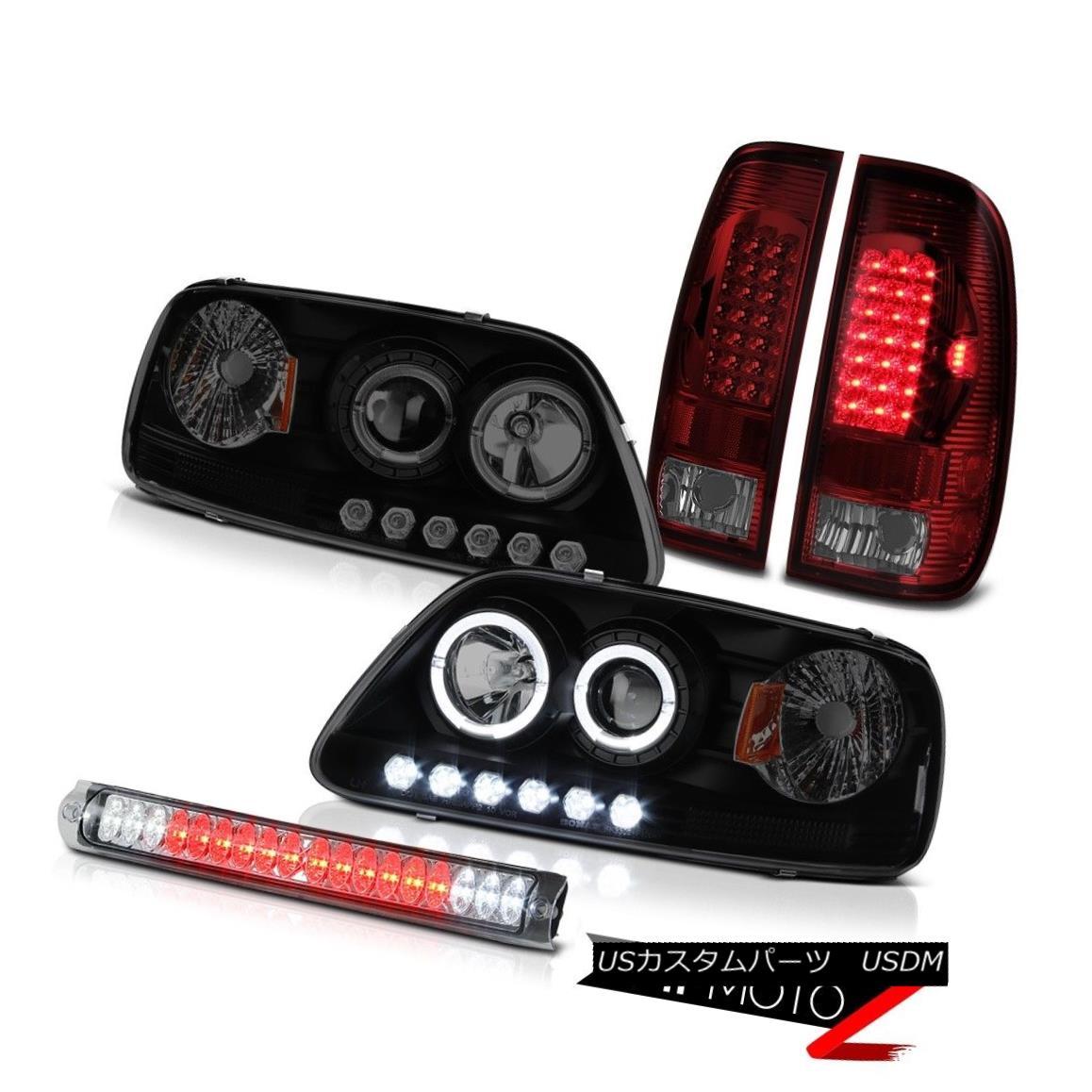 ヘッドライト 2X Halo LED Projector Headlamp Brake Lights High Cargo 97-03 F150 Hertiage Smoke 2X Halo LEDプロジェクターヘッドランプブレーキライトHigh Cargo 97-03 F150 Heritage Smoke