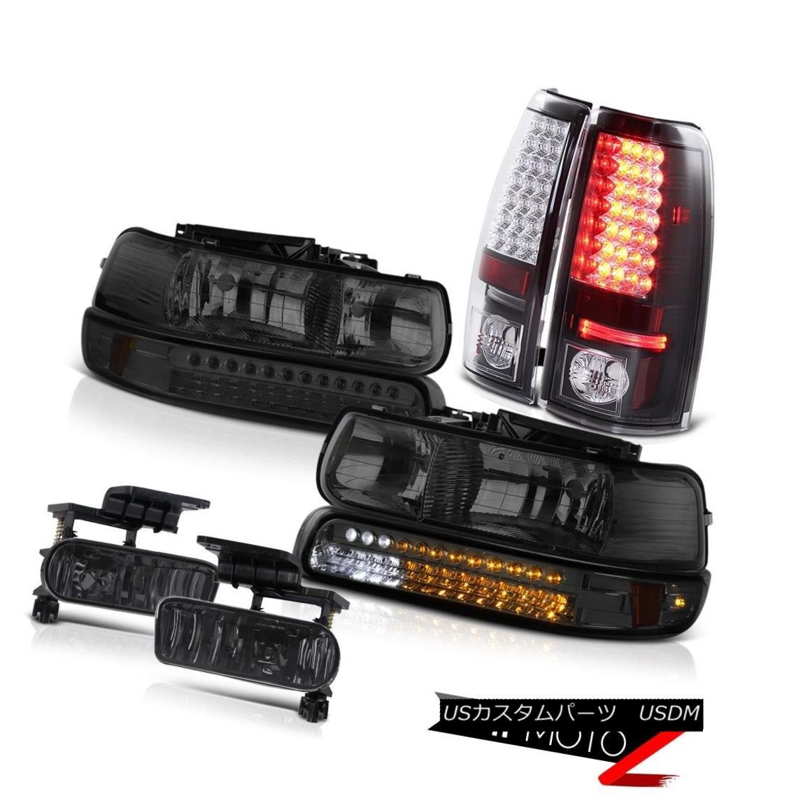 ヘッドライト 99-02 Silverado 6.0L 8.1L V8 DRL Headlamps LED Tail Light Lower Bumper Foglights 99-02 Silverado 6.0L 8.1L V8 DRLヘッドライトLEDテールライトロワーバンパーフォグライト