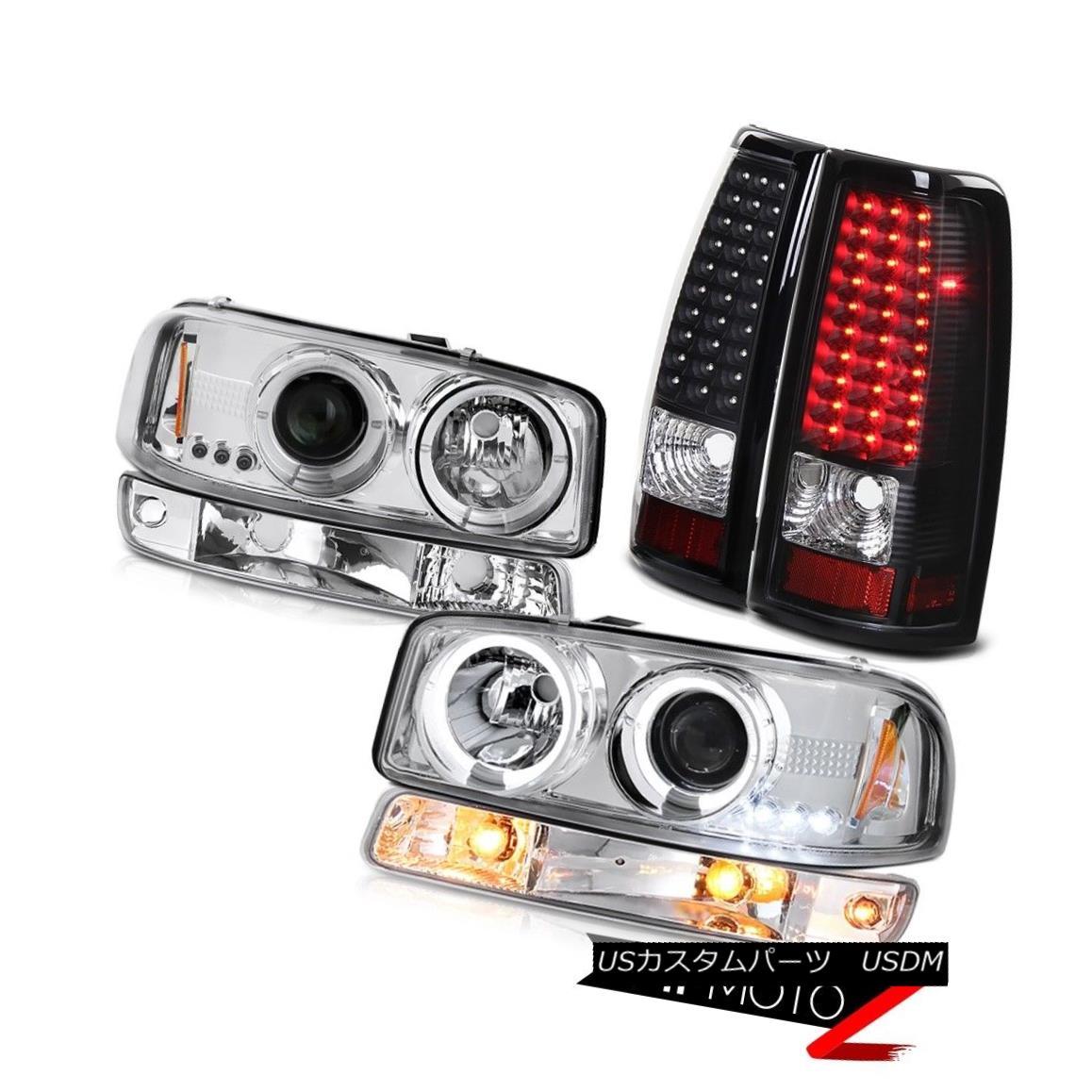 ヘッドライト 99-06 Sierra 6.6L Nighthawk black tail brake lights parking light headlamps LED 99-06シエラ6.6Lナイトホークブラックテールブレーキライトは、ヘッドライトLEDを駐車します。