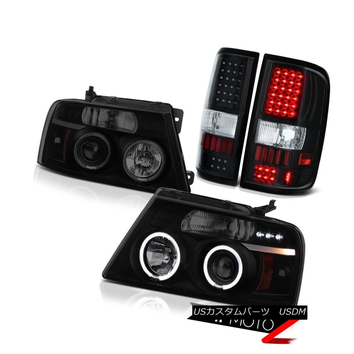 ヘッドライト Headlights Halo Bulbs Tail Lights 2004-2008 Ford F150 Lobo Black LED Tail Lights ヘッドライトHalo電球テールライト2004-2008 Ford F150ロボブラックLEDテールライト