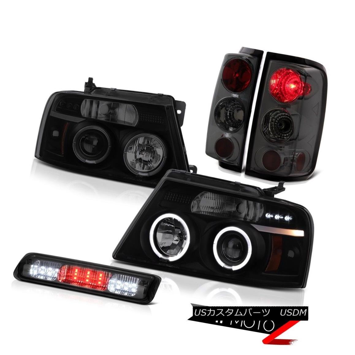 ヘッドライト 04-08 Ford F150 STX Third Brake Light Headlights Tail Lamps Halo Ring Dual Halo 04-08 Ford F150 STXサードブレーキライトヘッドライトテールランプHalo Ring Dual Halo