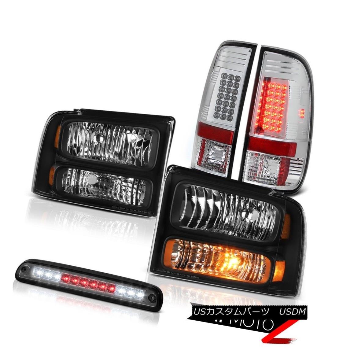 ヘッドライト 2005-2007 F250 5.4L Blk Headlights Bright LED Tail Lights Roof Stop Lamps Smoke 2005-2007 F250 5.4L Blkヘッドライト明るいLEDテールライトルーフストップランプスモーク