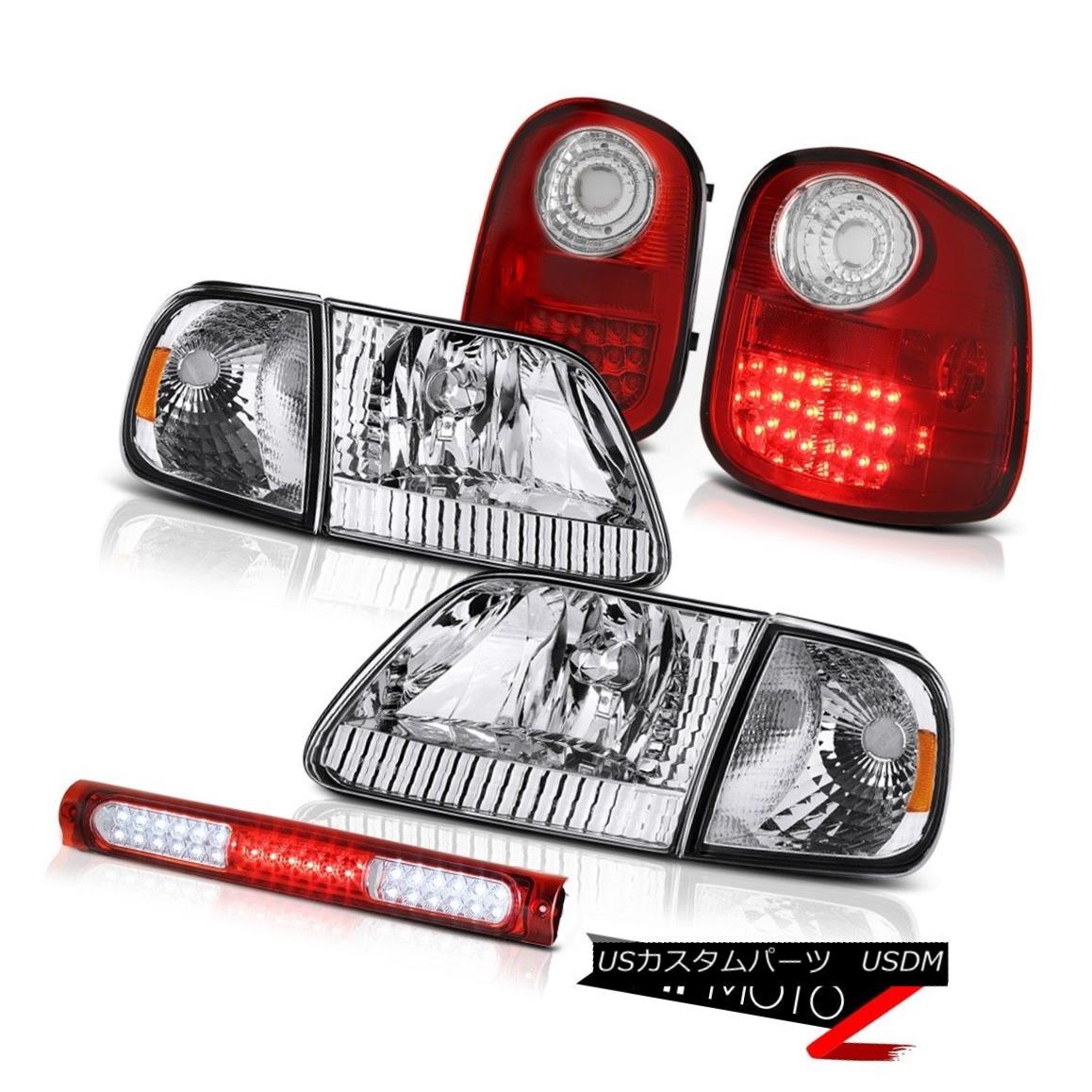 ヘッドライト Signal Headlights Red LED Tail Lights Brake 97-03 F150 Flareside Harley Davidson シグナルヘッドライトレッドLEDテールライトブレーキ97-03 F150 Flareside Harley Davidson