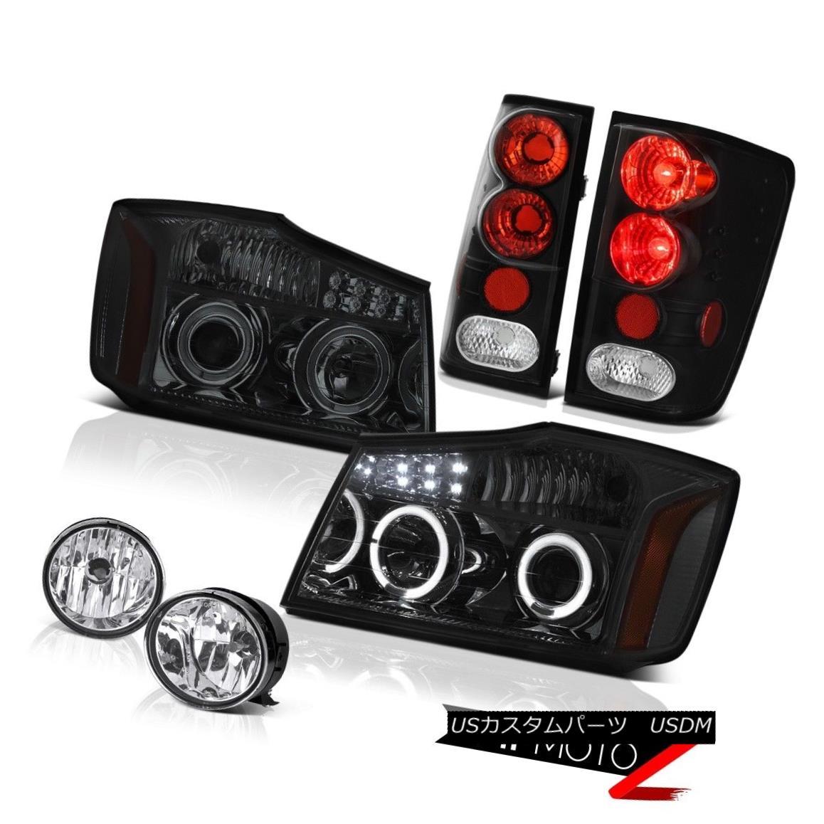 ヘッドライト For 2004-2015 For 2004-2015 Titan Pro-4X Headlight Smoke Black Taillamp Fog 2004年から2015年の間、2004?2015年のタイタンPro-4Xヘッドライトスモークブラックテイラーランプフォグ
