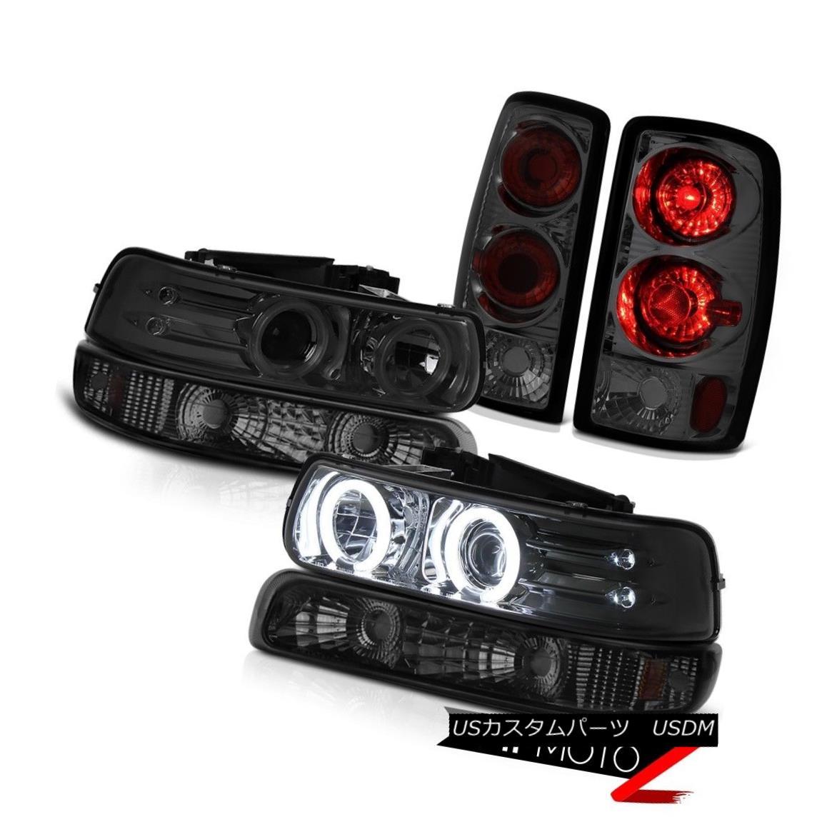 ヘッドライト 00-06 Suburban 6.0L Projector Halo DRL Headlights Smoke Signal Rear Brake Lamps 00-06郊外の6.0LプロジェクターHalo DRLヘッドライトスモークシグナルリアブレーキランプ