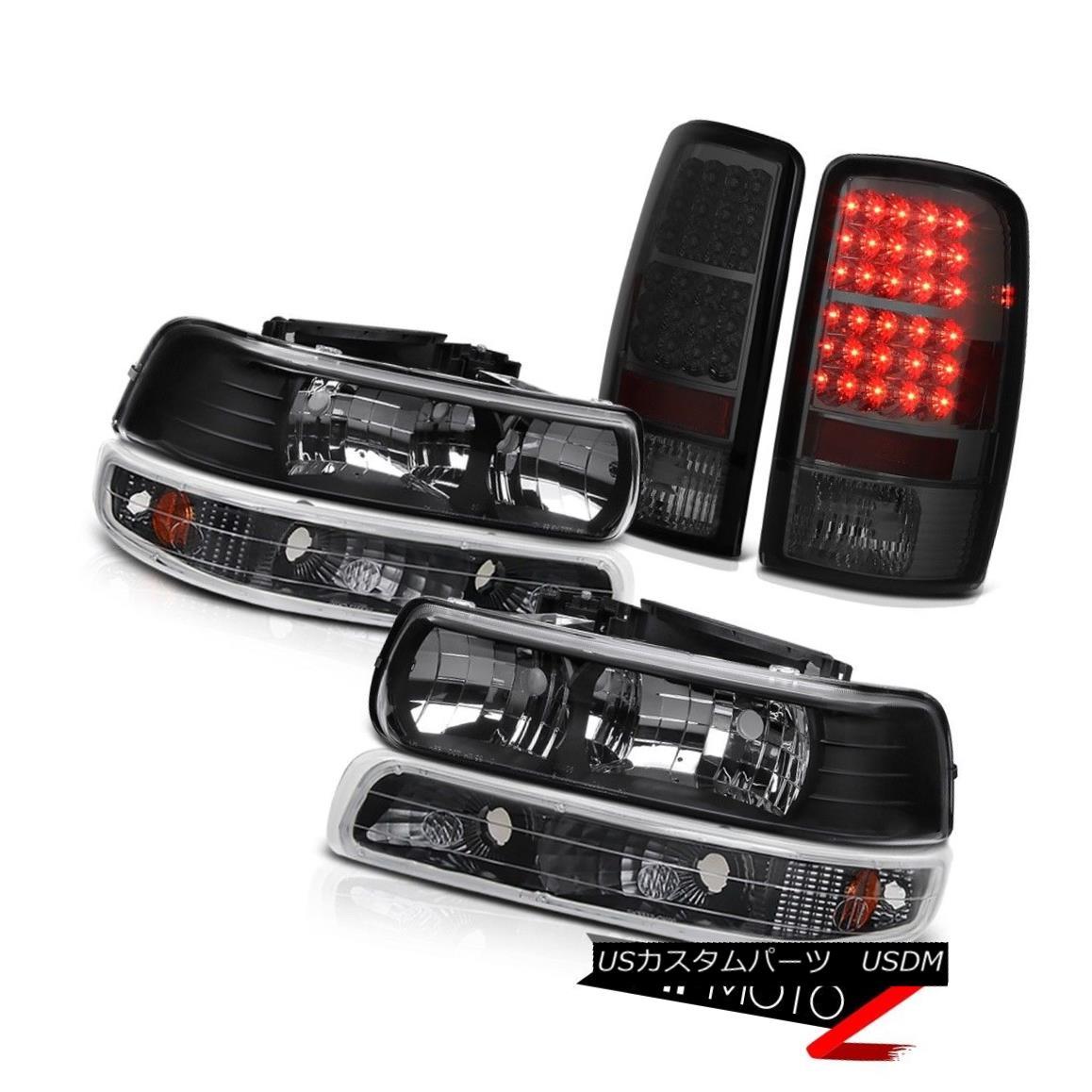 ヘッドライト 2001-2006 Tahoe Z71 Clear/Black Headlight Matte Black Signal Smoked LED Taillamp 2001-2006タホZ71クリア/ブラックヘッドライトマットブラック信号スモークLEDタイルランプ