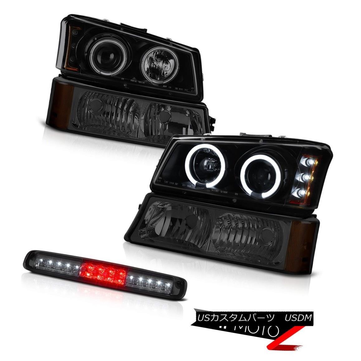 ヘッドライト 03-06 Chevy Silverado 1500 Third Brake Light Bumper Darkest Smoke Headlamps LED 03-06 Chevy Silverado 1500 Thirdブレーキライトバンパー暗い煙ヘッドランプLED