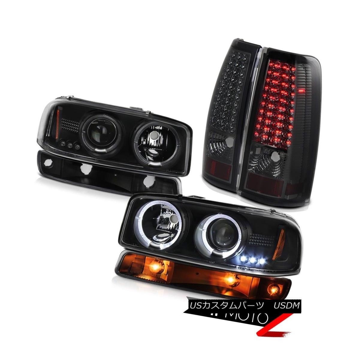 ヘッドライト 1999-2006 Sierra GMT800 Dark smoke taillamps inky black signal lamp headlamps 1999-2006 Sierra GMT800ダーク・スモーク・テールライト・インク・ブラック信号灯ヘッドランプ