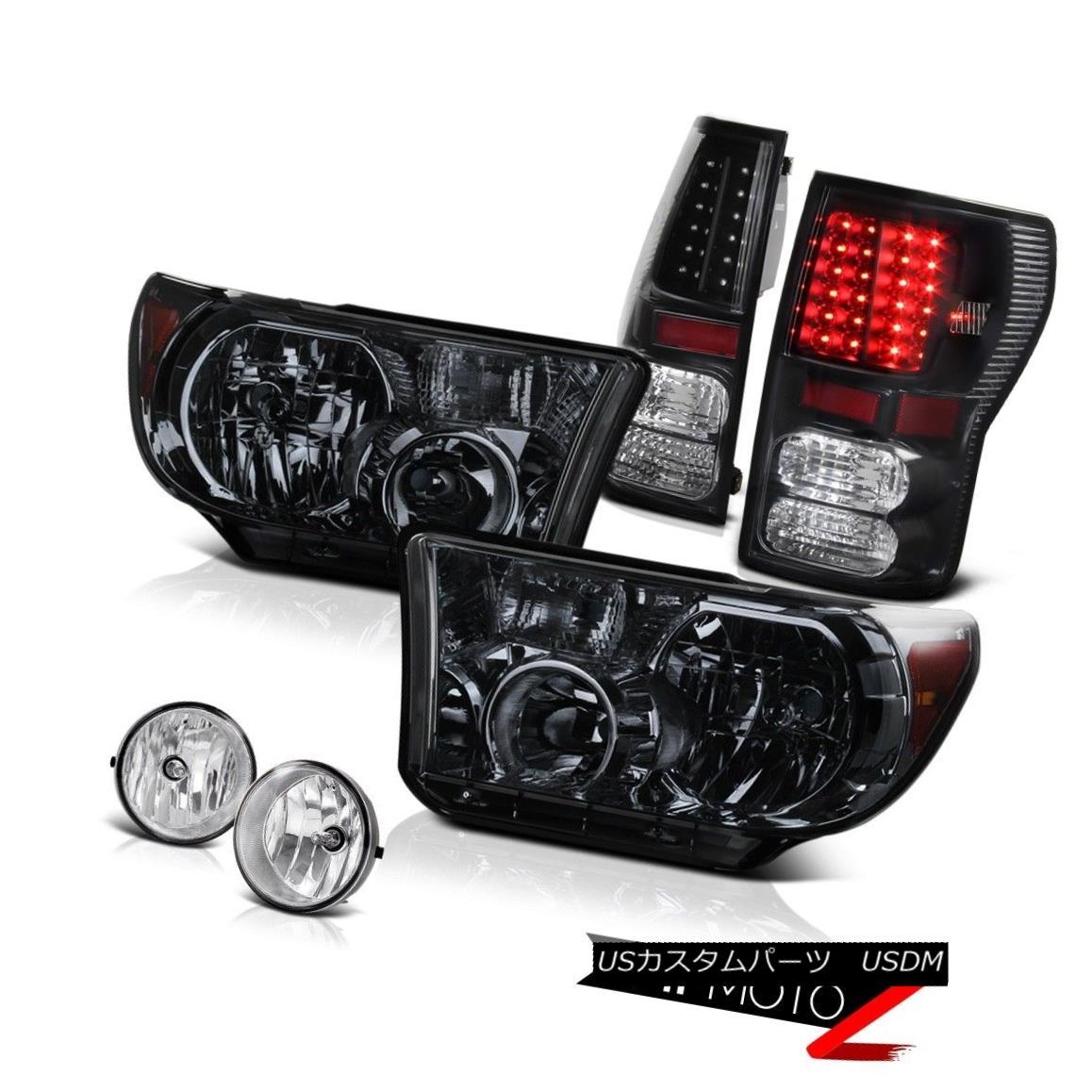 ヘッドライト Smoke Tinted Diamond Headlight+Led Tail Light+Fog Lamp 07-2013 Toyota Tundra 煙がかったダイヤモンドヘッドライト+ Ledテールライト+フォグランプ07-2013 Toyota Tundra