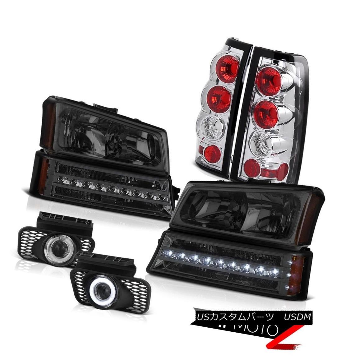 ヘッドライト 03-06 Silverado 3500HD Foglamps taillights phantom smoke bumper light headlights 03-06 Silverado 3500HDフォグランプテールライトファントムスモークバンパーライトヘッドライト