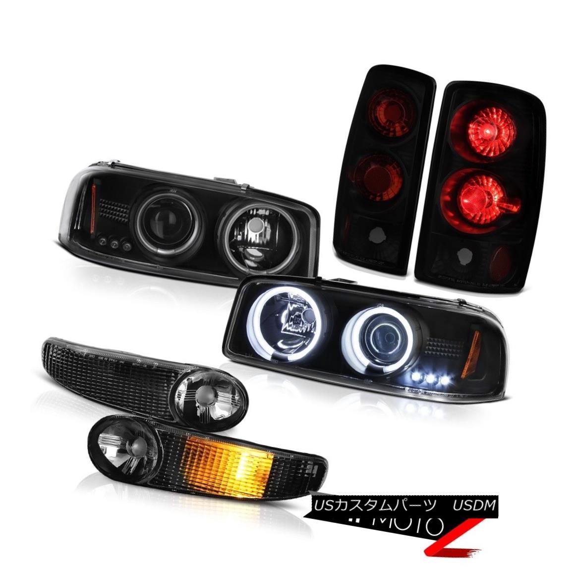 ヘッドライト Halo Headlights CCFL Signal Bumper Signal Rear Brake Tail Lights 2000-2006 Yukon HaloヘッドライトCCFL信号バンパーシグナルリアブレーキテールライト2000-2006 Yukon