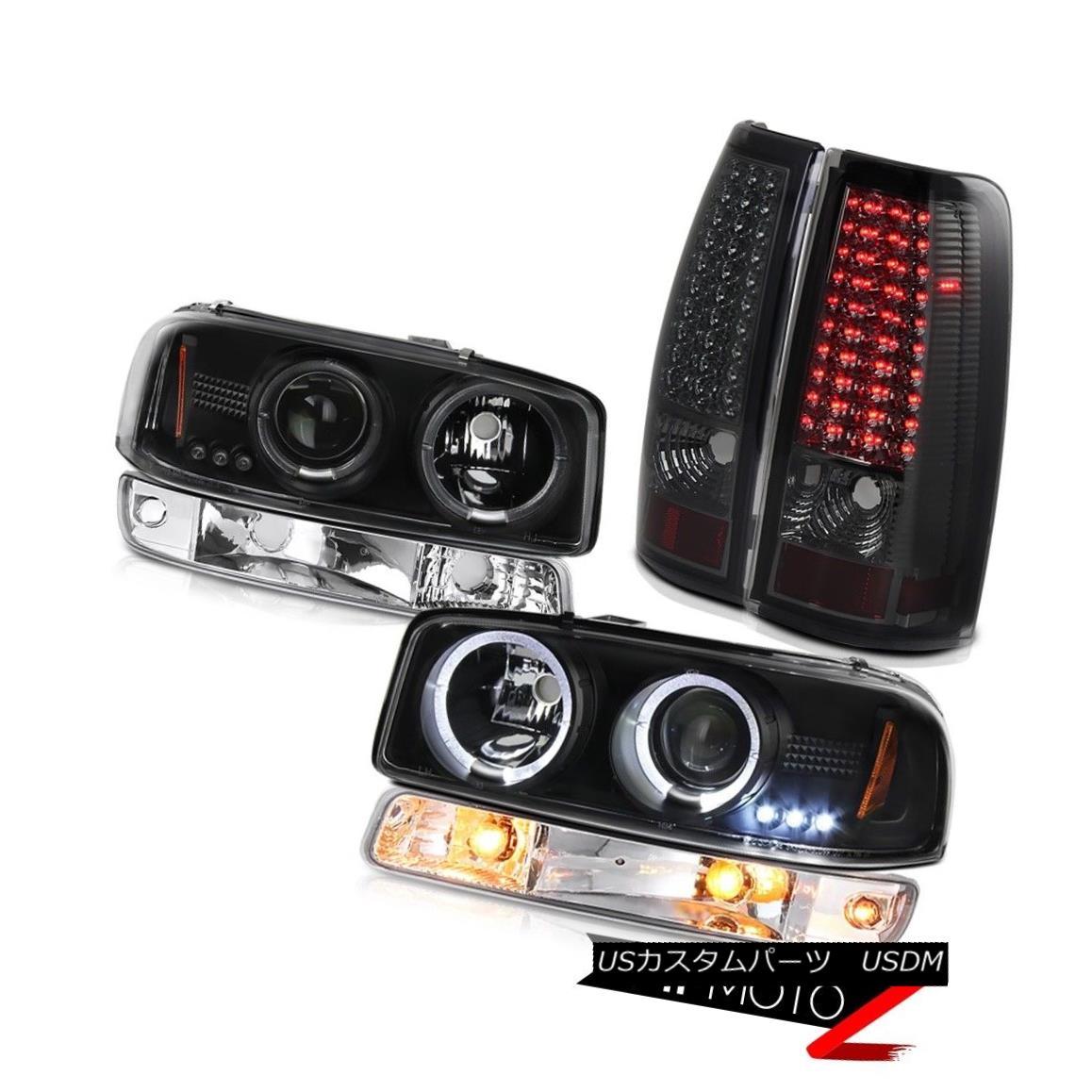 ヘッドライト 99-06 Sierra 3500HD Tail lights euro clear bumper lamp inky black headlights 99-06 Sierra 3500HDテールライトユーロクリアバンパーランプインキーブラックヘッドライト