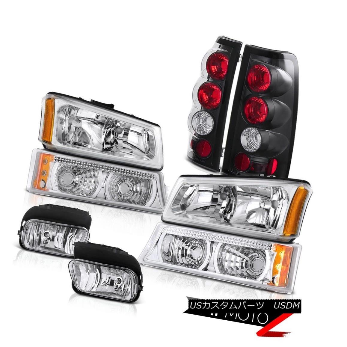 ヘッドライト 2003-2006 Silverado DuraMax 6.6L Left Right Headlights Tail Light Brake Foglamps 2003-2006 Silverado DuraMax 6.6L左ライトヘッドライトテールライトブレーキフォグランプ