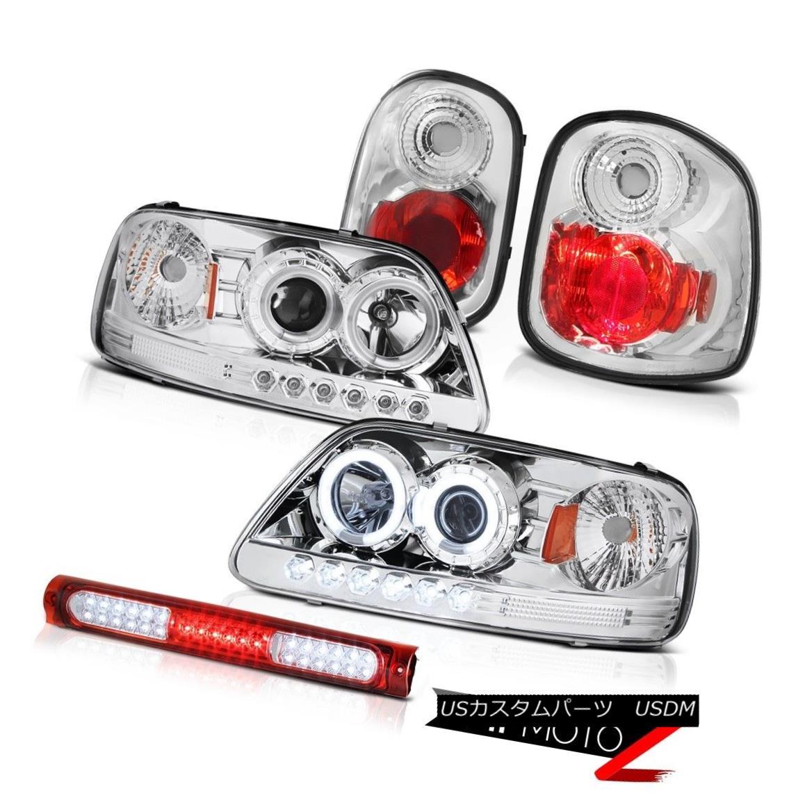 ヘッドライト 1997-2000 F150 Flareside CCFL Halo Headlamps Clear Tail Wine Red 3rd Brake LED 1997-2000 F150 Flareside CCFL Haloヘッドランプクリアテールワインレッド第3ブレーキLED