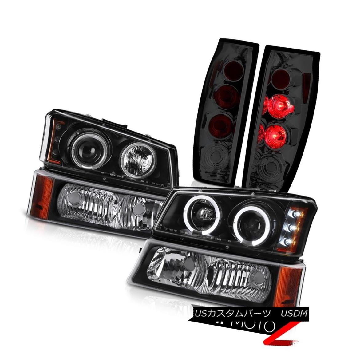 ヘッドライト 2003-2006 Avalanche 1500 Tail Brake Lights Raven Black Turn Signal Headlights 2003-2006雪崩1500テールブレーキライトレイブンブラックターンシグナルヘッドライト