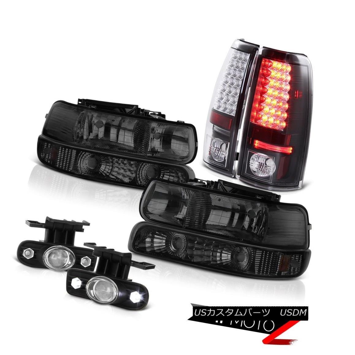 ヘッドライト Bumper+Headlights SMD Tail Lights Black Projector Euro Fog 99-02 Silverado 4WD バンパー+ヘッドリッグ hts SMDテールライトブラックプロジェクターユーロフォグ99-02 Silverado 4WD