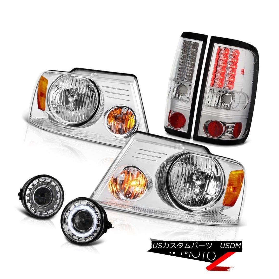 ヘッドライト [GLASS HALO RIM FOGLIGHT]+[HEADLIGHTS]+[TAIL LIGHT] FORD F150 2006-2008 V8 Truck [ガラスハローリムフォグライト] + [HEA  DLIGHTS] + [テールライト] FORD F150 2006-2008 V8トラック