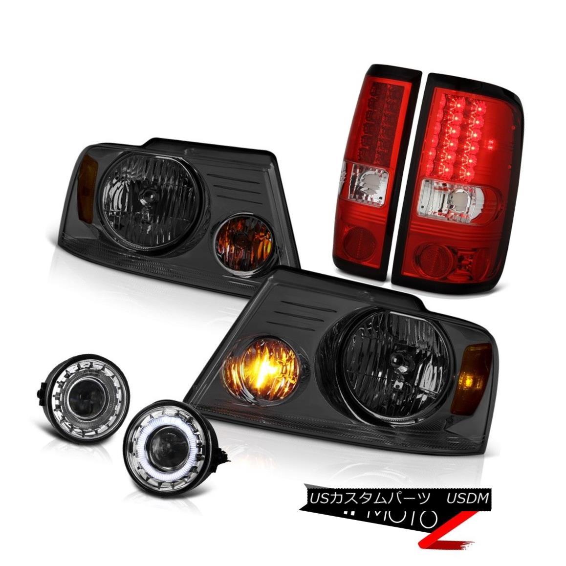 ヘッドライト [ANGEL EYE] 2006 2007 2008 FORD F150 Red LED Tail Light Smoke Headlight Fog Lamp [ANGEL EYE] 2006年2008年フォードF150レッドLEDテールライトスモークヘッドライトフォグランプ