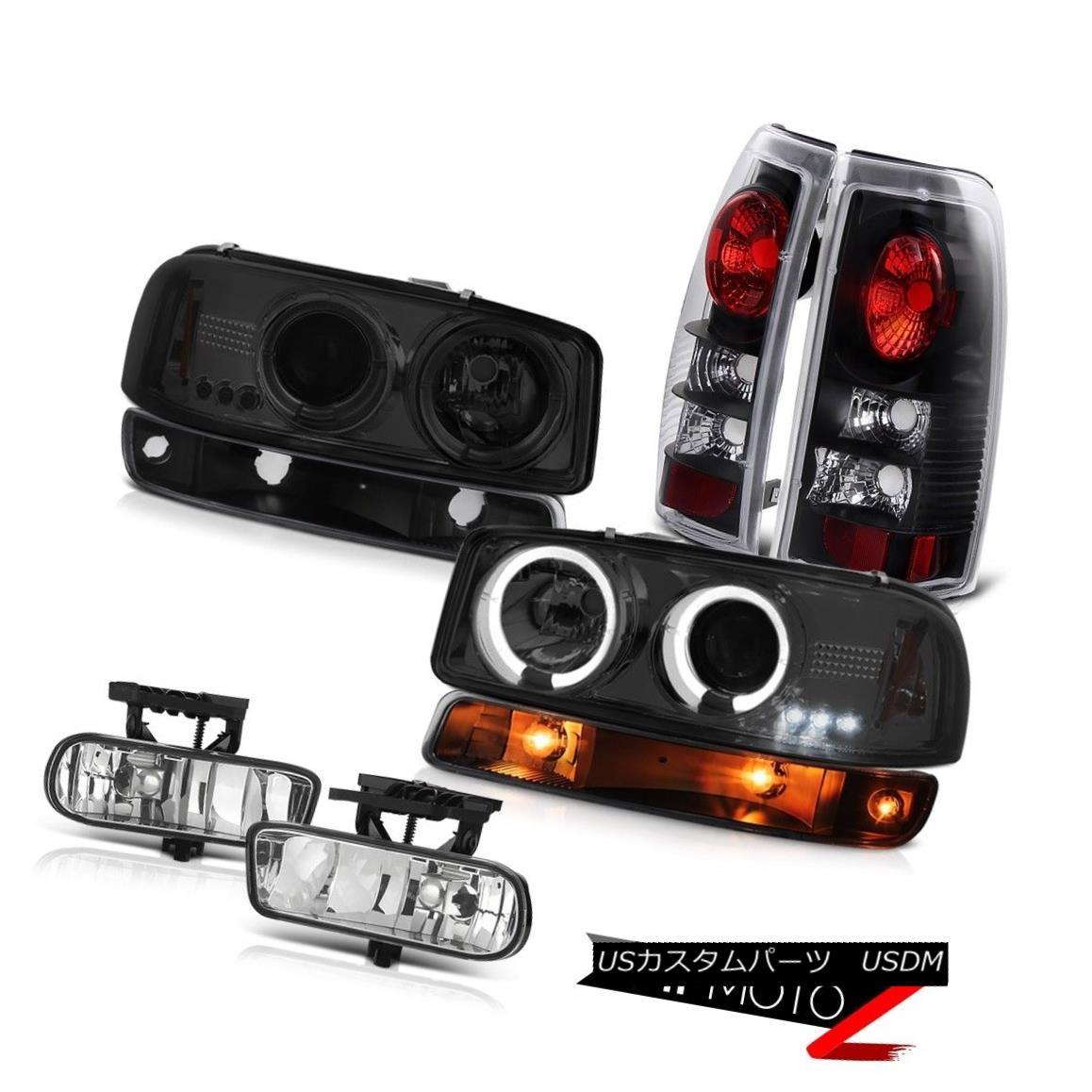 ヘッドライト 99-02 Sierra 5.3L Foglamps inky black taillights bumper light smoked headlights 99-02シエラ5.3Lフォグランプインキーブラックテールライトバンパーライトスモークヘッドライト