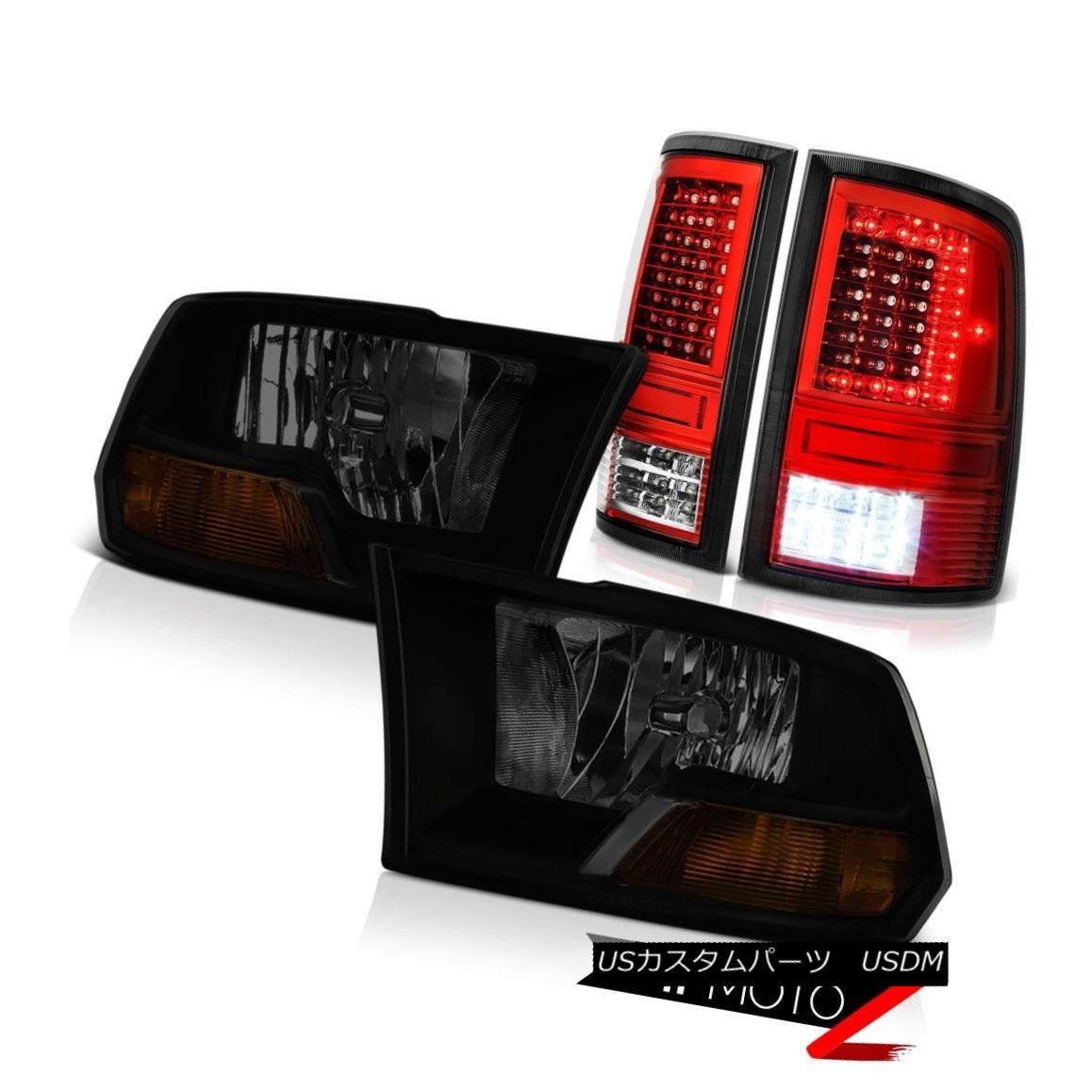 ヘッドライト 09-14 15-18 Dodge RAM 3500 Wine Red Tail Lamps Factory Style Headlamp Assembly 09-14 15-18ダッジRAM 3500ワインレッドテールランプ工場風ヘッドランプアセンブリ