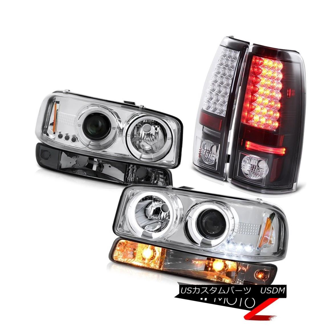 Sierra 5.3L Tail 99-06 99-06シエラ5.3Lテールランプダークスパーキングライトクリアクロームヘッドライト ヘッドライト headlamps dark parking smoke light clear chrome lamps