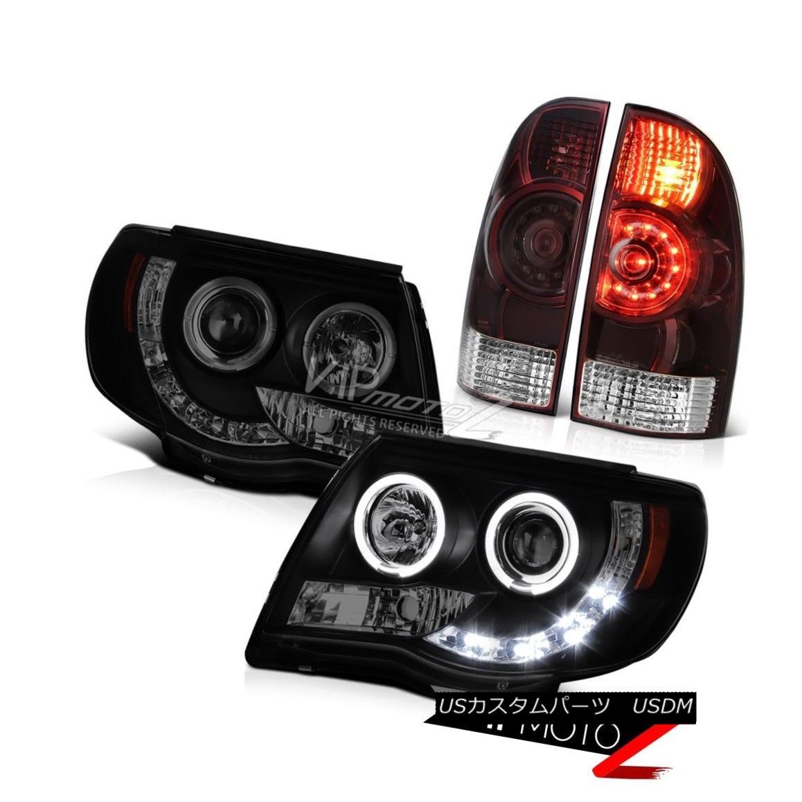 ヘッドライト 05 06 07 08 09 10 11 Tacoma 4.0L Rear brake lamps headlights LED SMD Angel Eyes 05 06 07 08 09 10 11タコマ4.0LリアブレーキランプヘッドライトLED SMDエンジェルアイズ