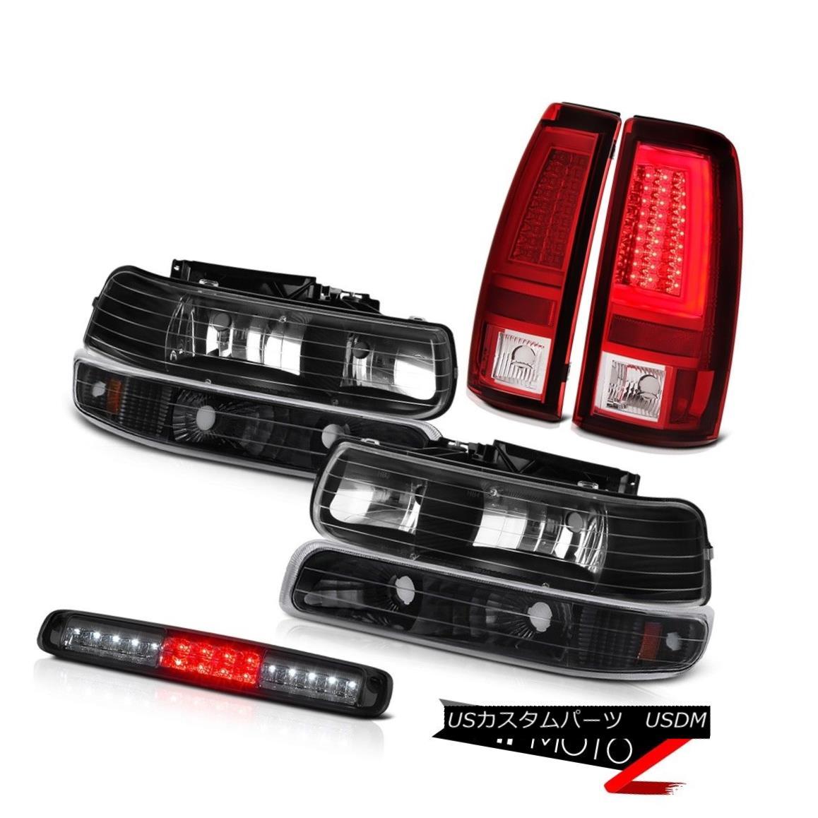 ヘッドライト 99-02 Silverado 1500 Rosso Red Tail Brake Lamps 3rd Light Headlights