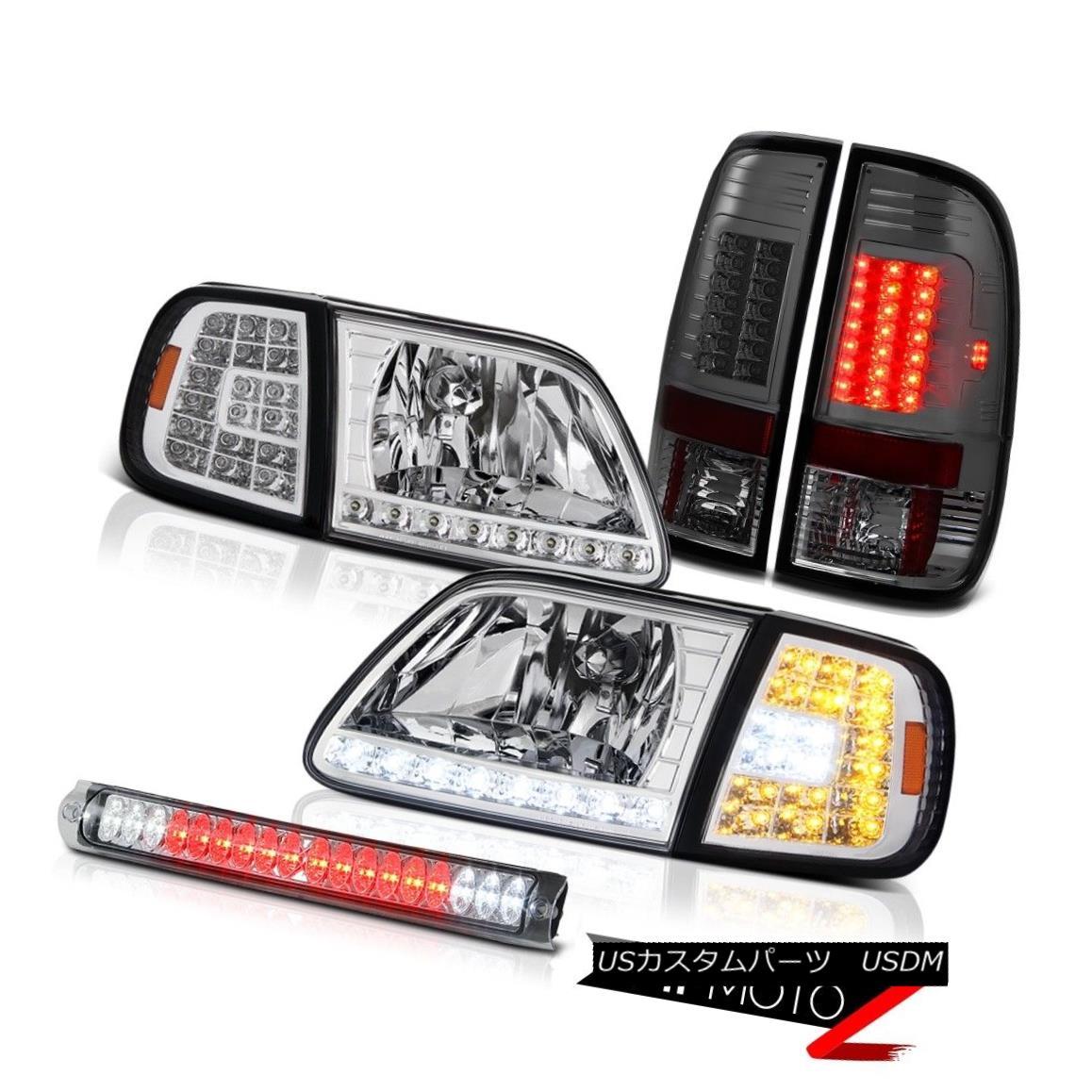 ヘッドライト 97-03 F150 Lariat Crystal SMD Parking Headlights Signal Tail Light Roof Stop LED 97-03 F150ラリアトクリスタルSMDパーキングヘッドライト信号テールライトルーフストップLED