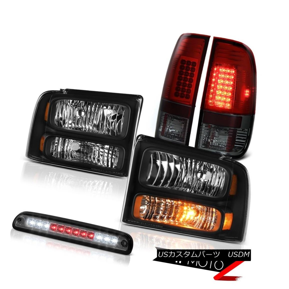 ヘッドライト 05-07 Ford F250 SD Left Right Headlights Red Smoke Tail Lights Third Brake LED 05-07 Ford F250 SD左ライトヘッドライト赤煙テールライトThird Brake LED