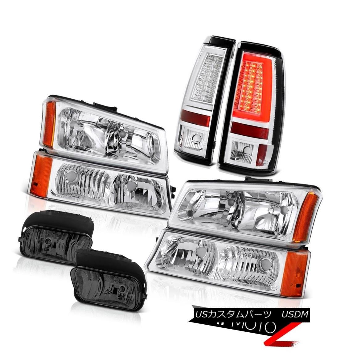 ヘッドライト 03 04 05 06 Chevy Silverado Tail Lamps Headlamps Smoked Foglights