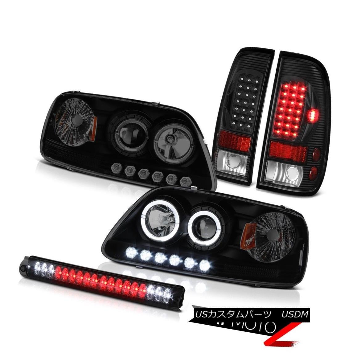 ヘッドライト LED Projector Headlight 2001 2002 2003 F150 5.4L Black LED Tail Lamps Roof Brake LEDプロジェクターヘッドライト2001 2002 2003 F150 5.4LブラックLEDテールランプ屋根ブレーキ