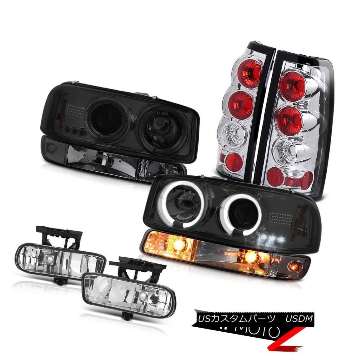 ヘッドライト 99-02 GMC Sierra Euro clear foglights rear brake lights bumper light headlamps 99-02 GMC Sierra Euroクリアフォギーライトリアブレーキライトバンパーライトヘッドランプ