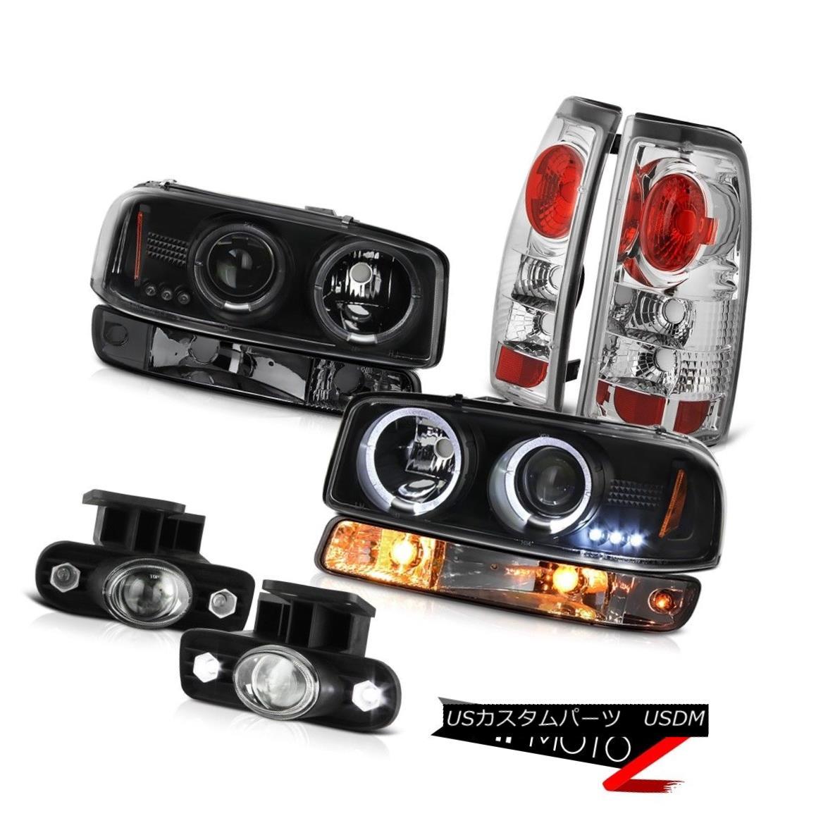 ヘッドライト 1999-2002 Sierra C3 Crystal clear foglamps parking brake lights light Headlights 1999-2002シエラC3クリスタルクリアフォグランプパーキングブレーキライトライトヘッドライト
