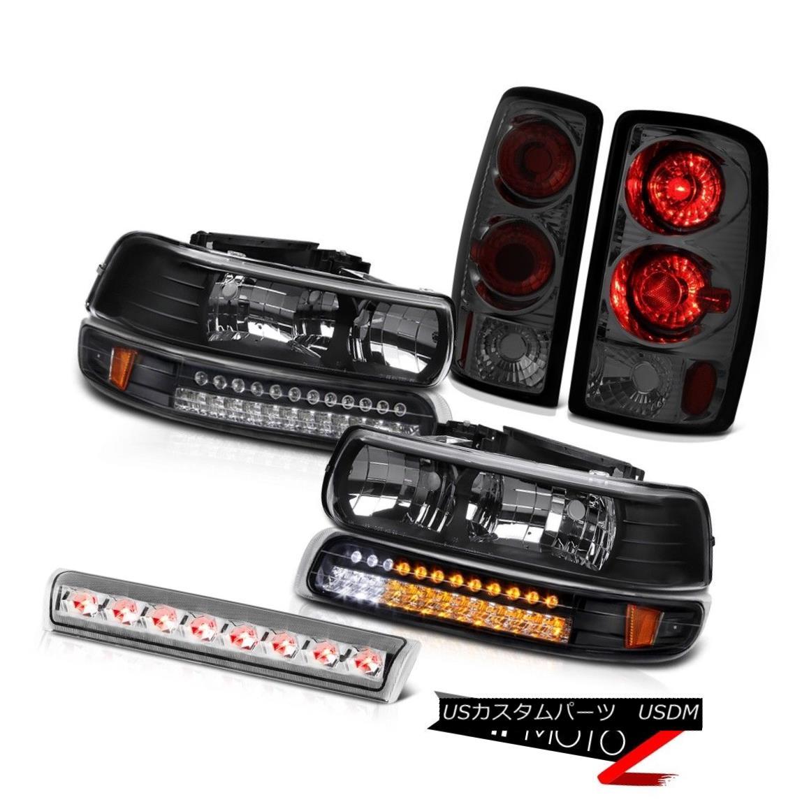 ヘッドライト Clear/Black Headlights SMD Turn Signal Smoke Lamps High Cargo LED 00-06 Tahoe LT クリア/ブラックヘッドライトSMDターンシグナルスモークランプハイカーゴLED 00-06 Tahoe LT