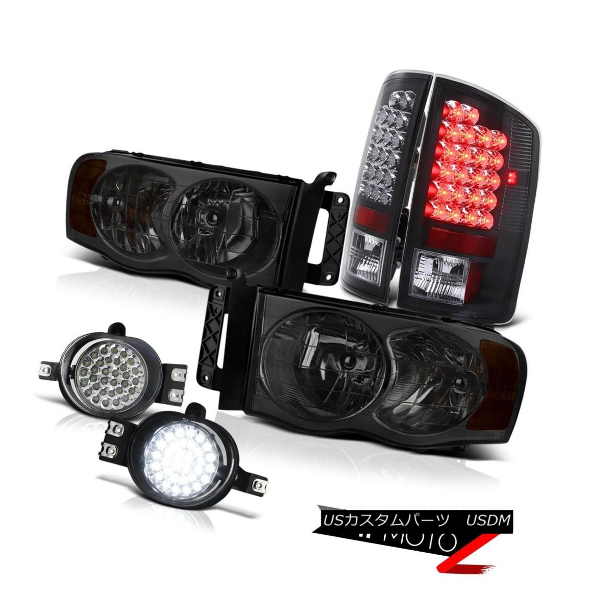 ヘッドライト [2002-2005] Dodge Ram SMOKE HeadLight BLACK LED TAIL LIGHT CHROME LED FOG LIGHT [2002-2005] Dodge Ram SMOKEヘッドライトBLACK LEDテールライトクロームLED FOGライト