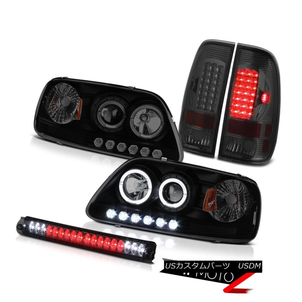 ヘッドライト Black Smoked Headlight 1999 2000 2001 F150 LED Brake Tail Lights Roof Stop Lamps ブラックスモークヘッドライト1999 2000 2001 F150 LEDブレーキテールライトルーフストップランプ