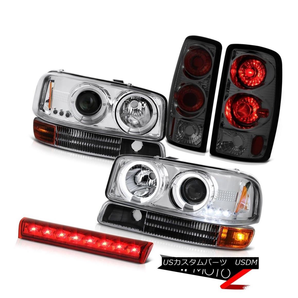 ヘッドライト 00 01 02 03 04 05 06 Yukon SLT Angel Eye Halo Headlight Brake Tail Light 3rd LED 00 01 02 03 04 05 06ユーコンSLTエンジェルアイハローヘッドライトブレーキテールライト3rd LED