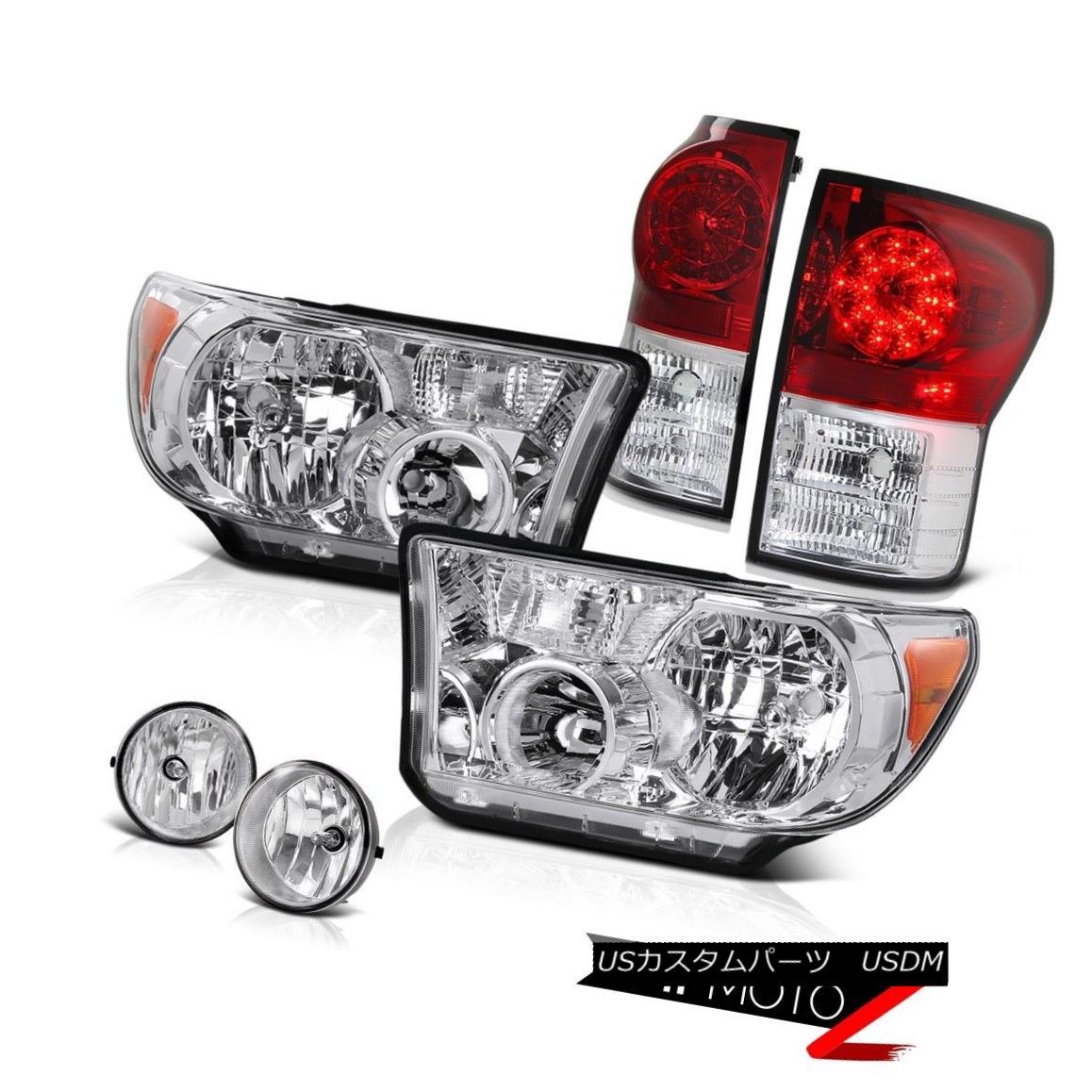 ヘッドライト 07-2013 Toyota Tundra Crystal Clear L+R Headlamp+Led Tail Light+Fog Lamp 07-2013トヨタトンドラクリスタルクリアL + Rヘッドランプ+ Ledテールライト+フォグランプ