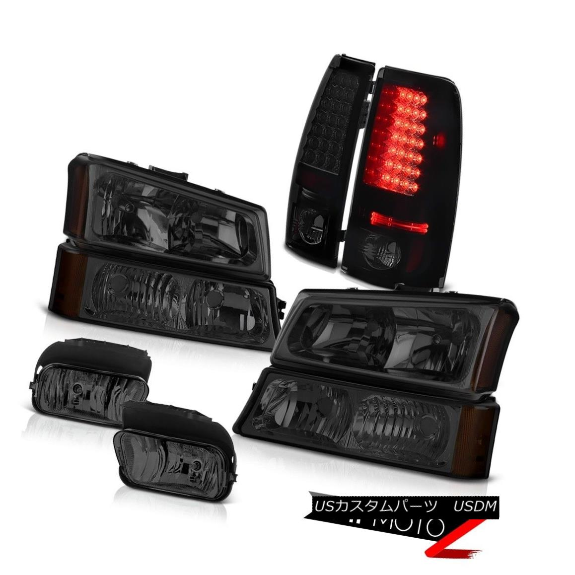 ヘッドライト 2003-2006 Silverado PAIR Smoke Headlights Parking Lights Lamp Tail Light Foglamp 2003-2006シルバラードPAIR煙のヘッドライトパーキングライトランプテールライトフォグランプ