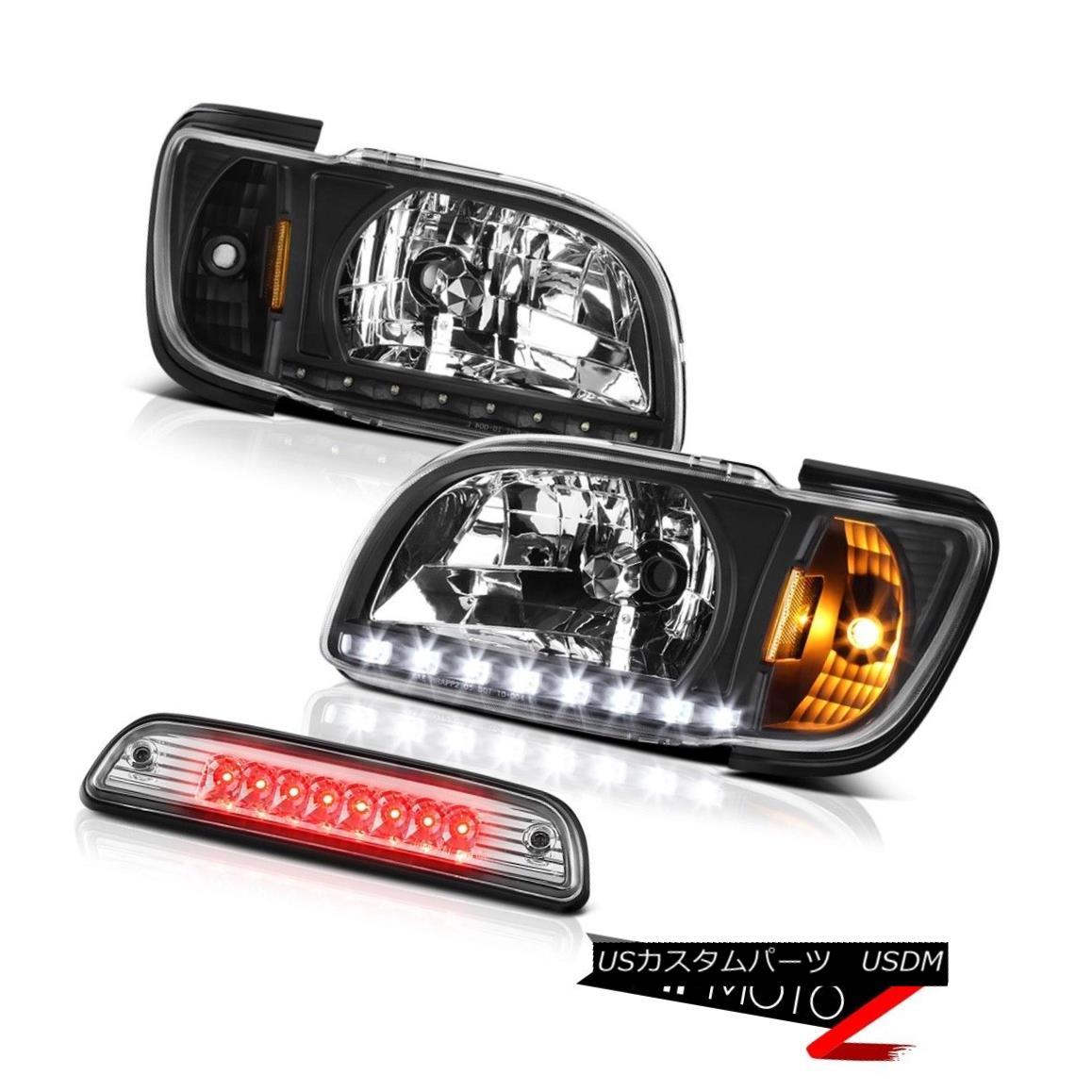 ヘッドライト 2001-2004 Toyota Tacoma Offroad Roof cargo light inky black headlamps bumper LED 2001-2004トヨタタコマオフロード屋根貨物ライトインキーブラックヘッドライトバンパーLED