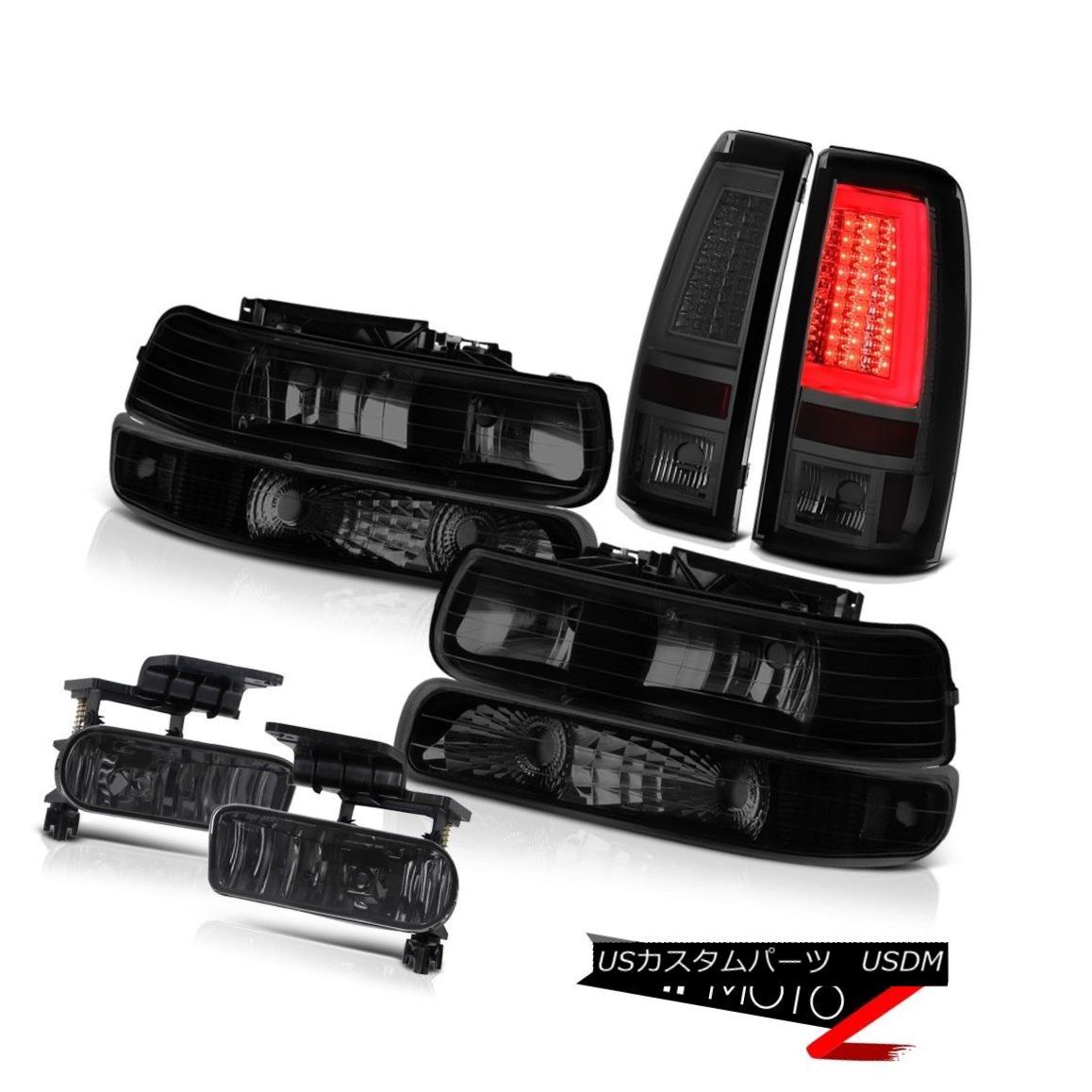 ヘッドライト 99-02 Silverado 6.0L Smokey Tail Lamps Headlamps Bumper Foglamps