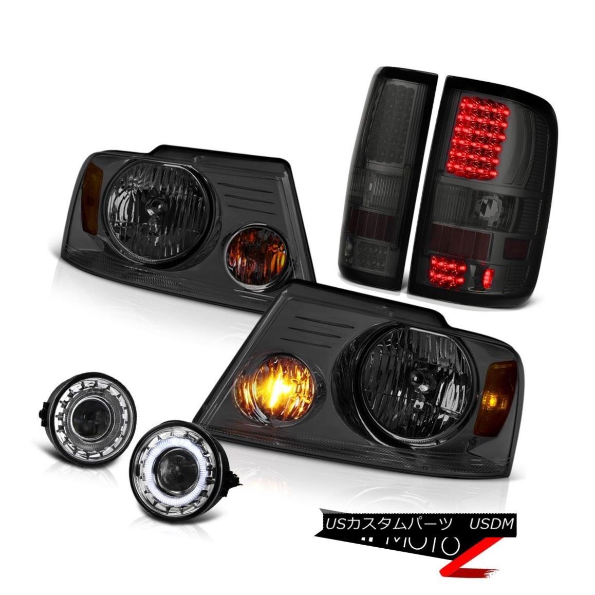 ヘッドライト 06-08 Ford F150 Lariat Fog Lights Titanium Smoke Headlights Tail Lamps OE Style 06-08 Ford F150 LariatフォグライトチタンスモークヘッドライトテールランプOEスタイル