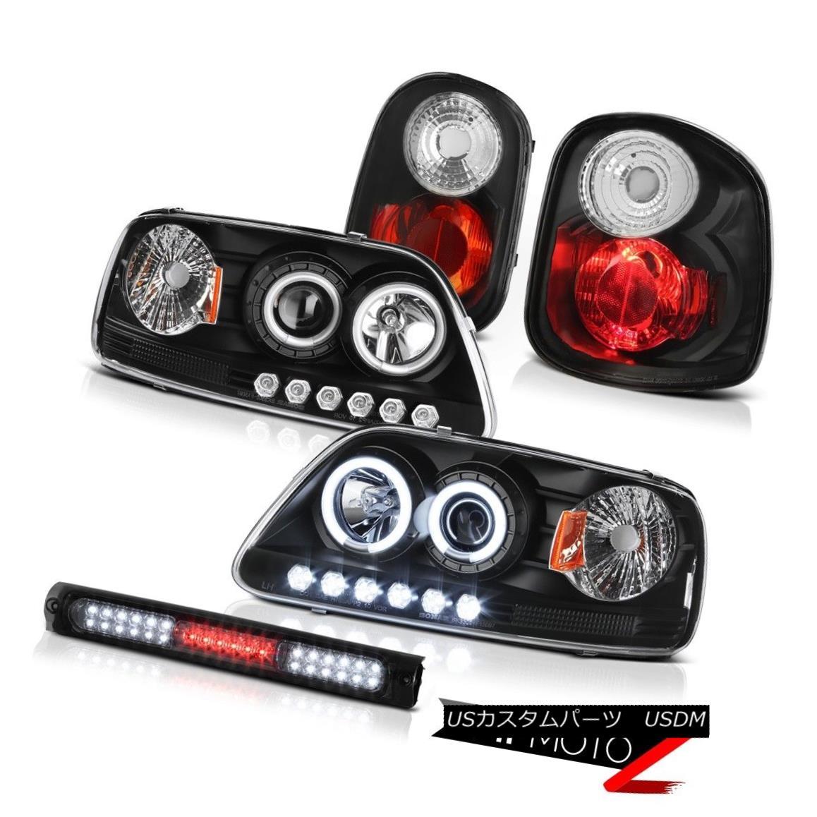 ヘッドライト Black CCFL Rim Headlights Rear Brake Lights Cargo LED 97-00 F150 Flareside XL ブラックCCFLリムヘッドライトリアブレーキライトカーゴLED 97-00 F150 Flareside XL
