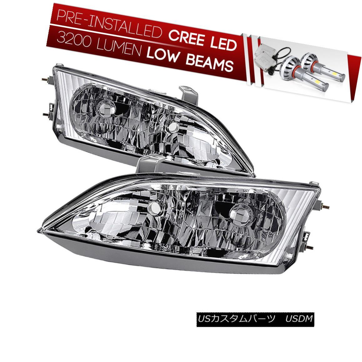 ヘッドライト [CREE LED Bulb Installed]97-98 Lexus ES Factory Style Replacement Headlight Lamp [CREE LED Bulbをインストール] 97-9  8 Lexus ES工場スタイルの交換ヘッドライトランプ