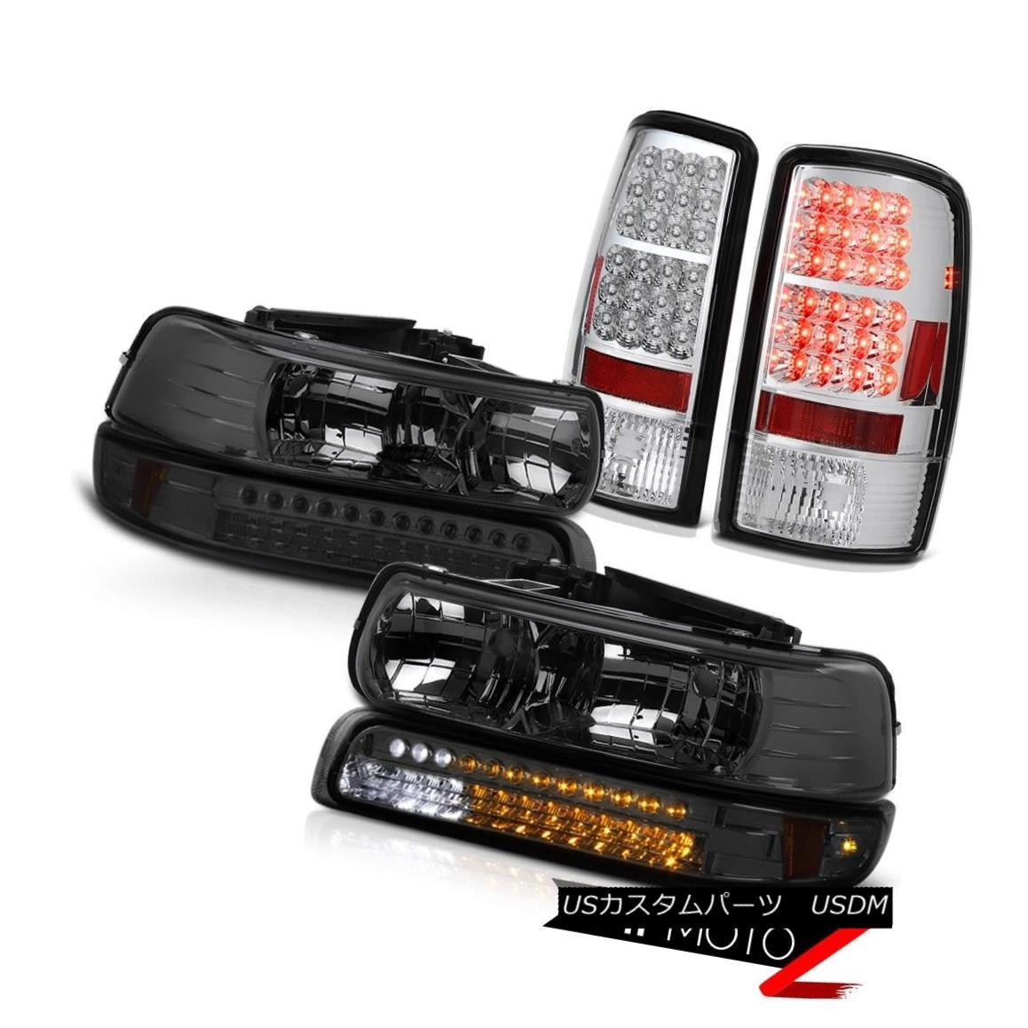 ヘッドライト Left Right Smoke Headlights LED ParkChrome Tail Lights 00-06 Chevy Suburban Left Right SmokeヘッドライトLED ParkChromeテールライト00-06 Chevy Suburban