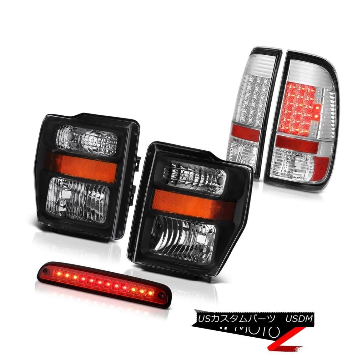 ヘッドライト 2008 2009 2010 F250 FX4 Left Right Headlight Clear LED Tail light 3rd Brake Red 2008 2009 2010 F250 FX4左ライトヘッドライトクリアLEDテールライト3rdブレーキレッド