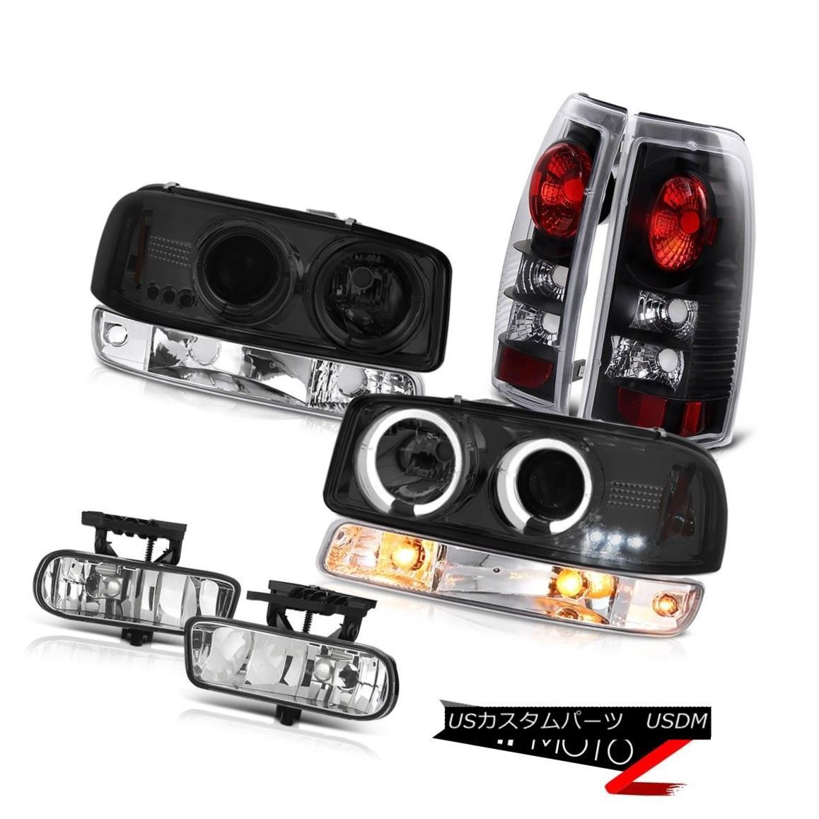 ヘッドライト 99-02 Sierra 5.3L Fog lamps inky black taillamps bumper lamp headlamps Halo Rim 99-02シエラ5.3LフォグランプインクブラックのテールランプバンパーランプヘッドライトHalo Rim